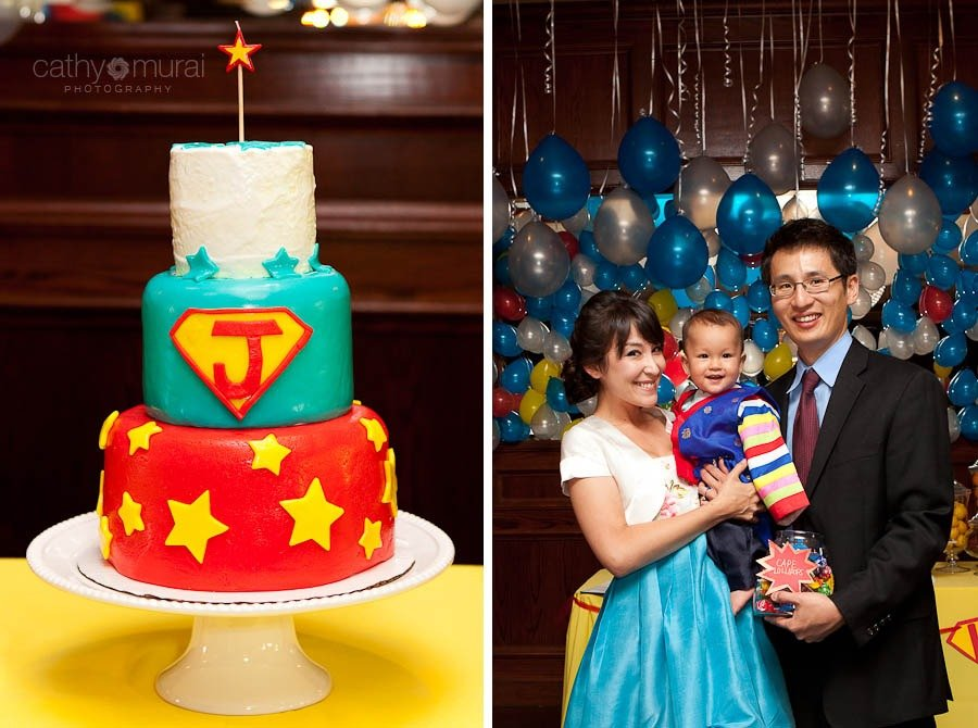 Superhero Birthday cake, Super hero Birthday cake, Korean first birthday party, Korean 1st birthday party