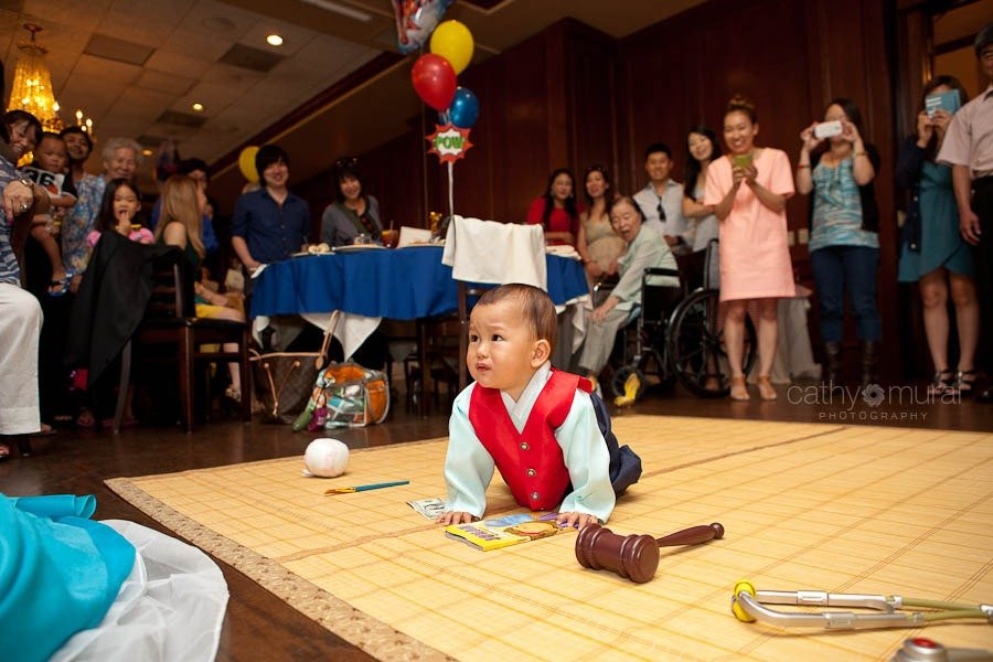Korean traditional game, Doljabi at Maggiano