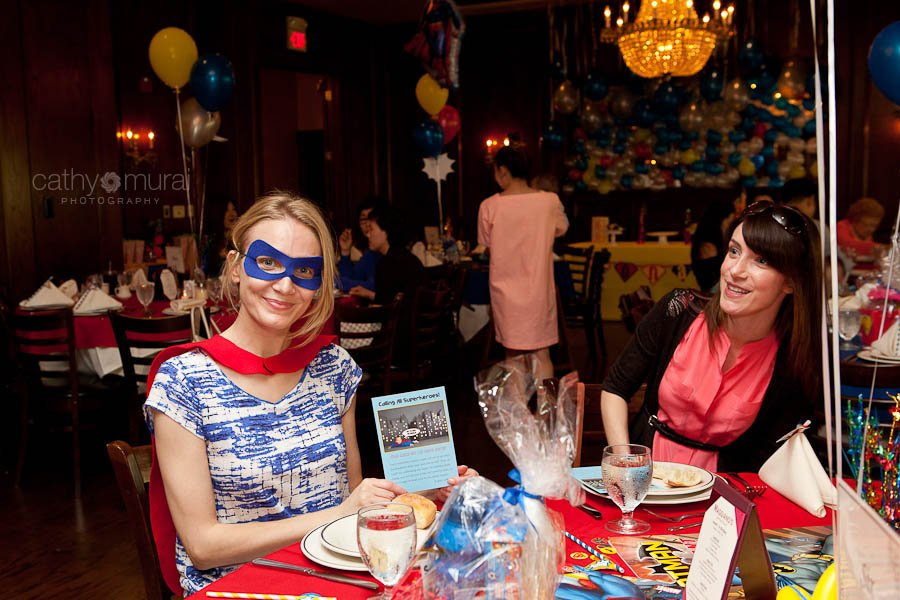 Superhero First Birthday Party with Korean Dol at Maggiano