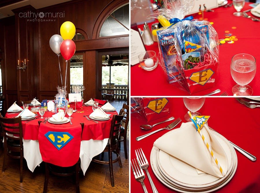 Superhero Birthday Party at Maggiano
