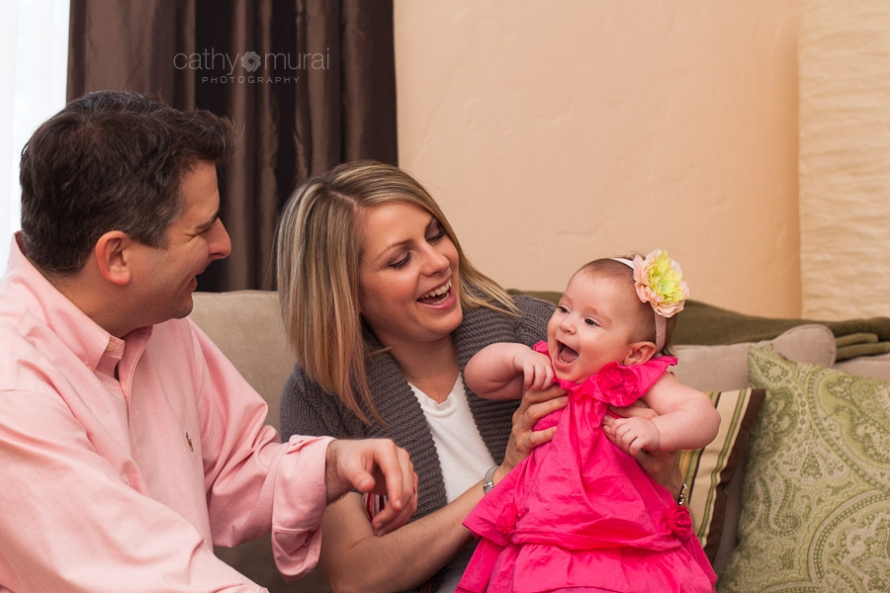 Happy Family Captured by a Glendale Lifestyle Pet Photographer, a Glendale Baby Photographer, a Glendale Family Photographer, Cathy Murai Photography
