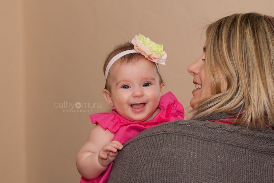Happy Baby Smiling at a camera Captured by a Glendale Lifestyle Family and Baby Photographer, Cathy Murai Photography