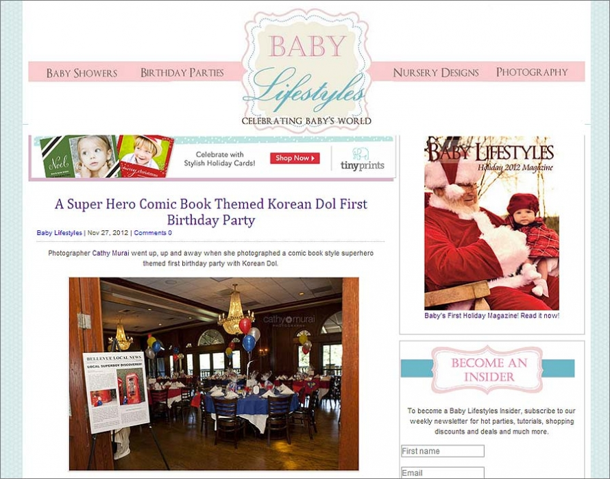 Superhero 1st Birthday party (dol) by los angeles Baby Photographer, Cathy Murai Photography_featured on BabyLifestyles