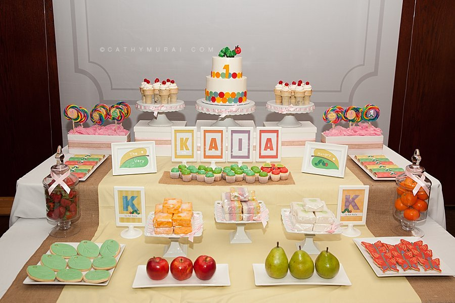 Very Hungry Caterpillar First Birthday Party Korean Dol At