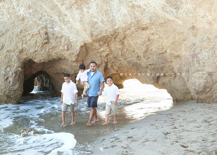 Family Beach Portrait Session at El Matador State Beach in Malibu